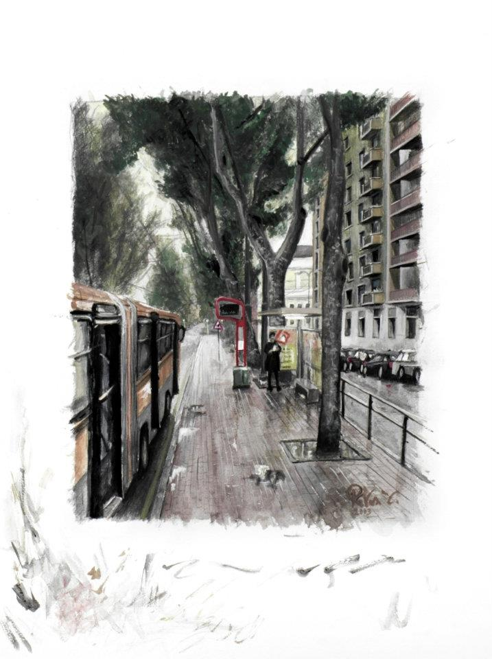 Milano viale Isonzo fermata del bus 90